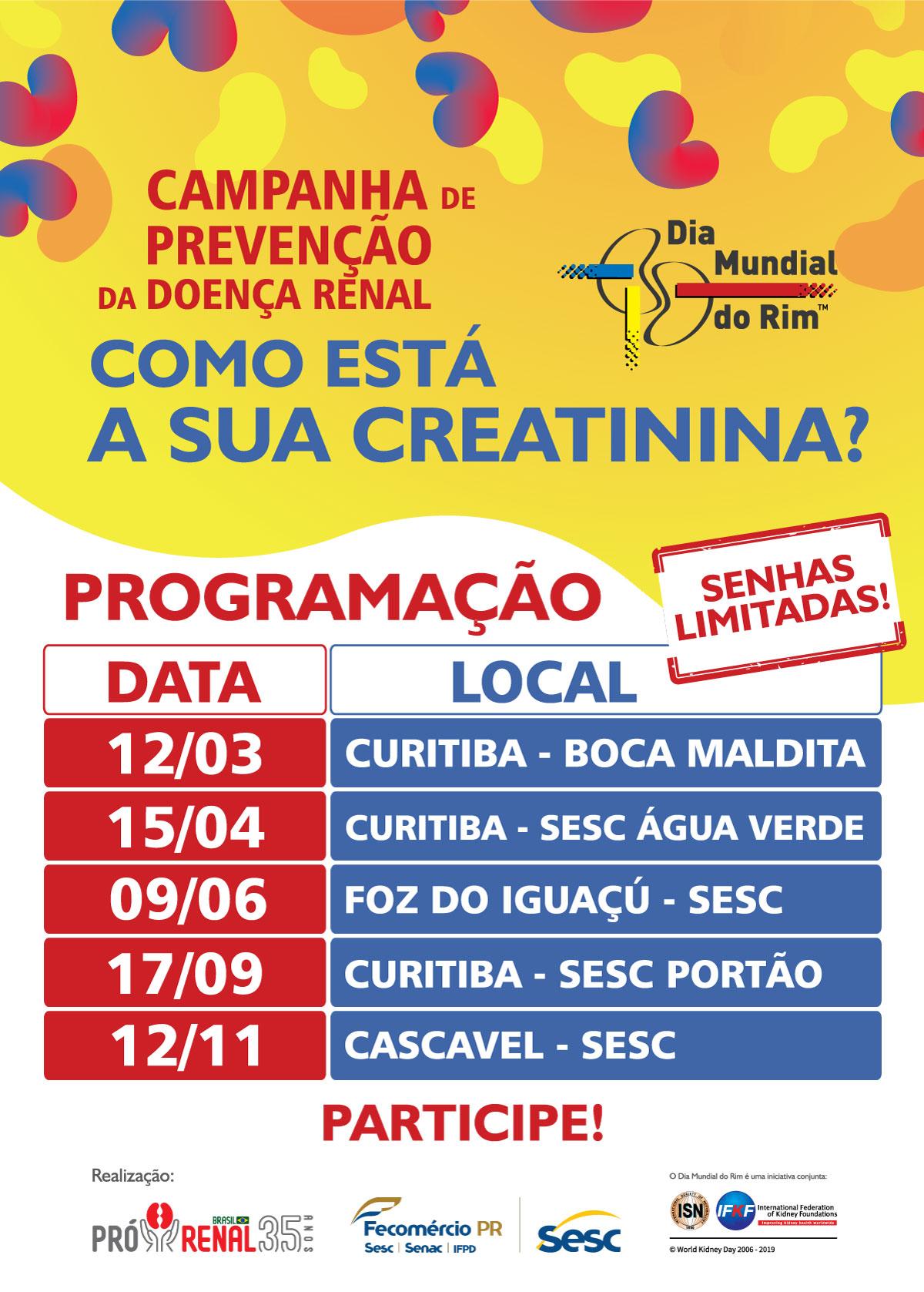 Confira a programação especial para o Dia Mundial do Rim 2020